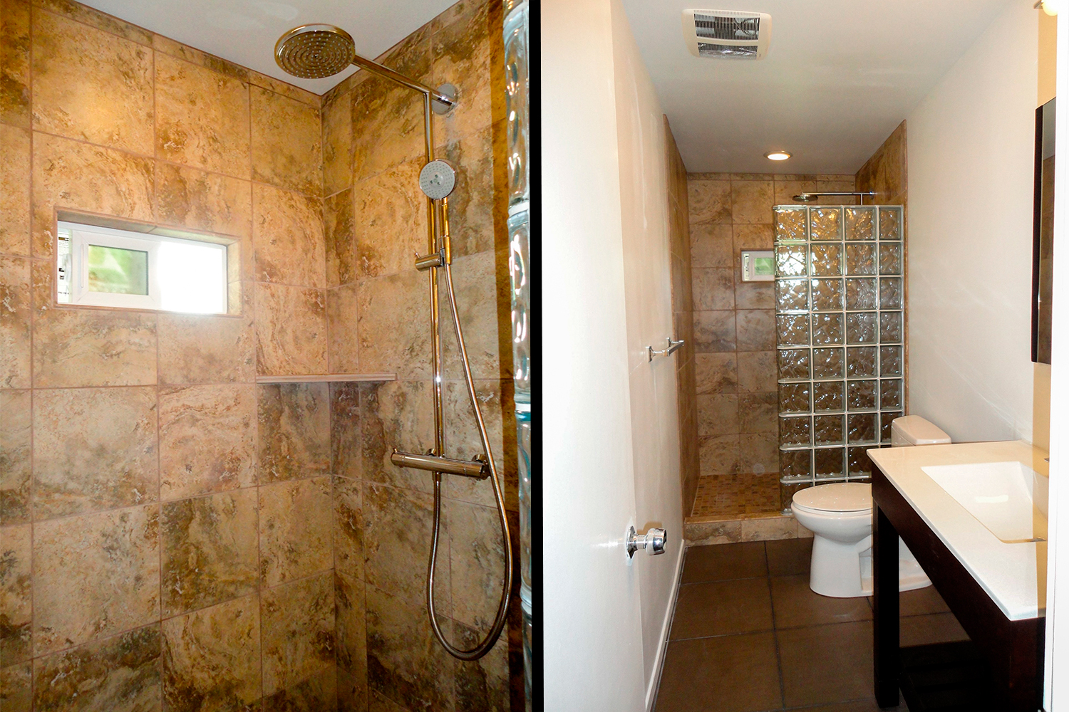 Untitled Document - Bathroom expansion before and after